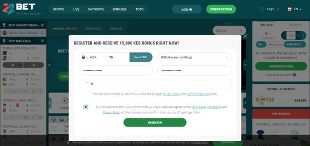 22bet registration form - 22Bet Bookmakers Review