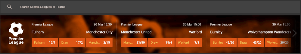 888Sport betting selection