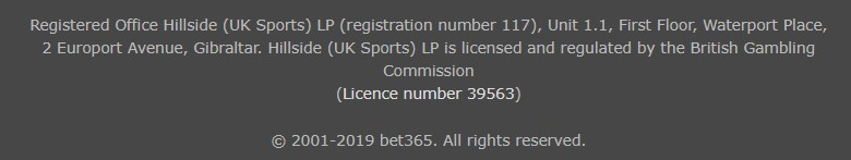 Bet365 Security & License Bet365 Sports Review