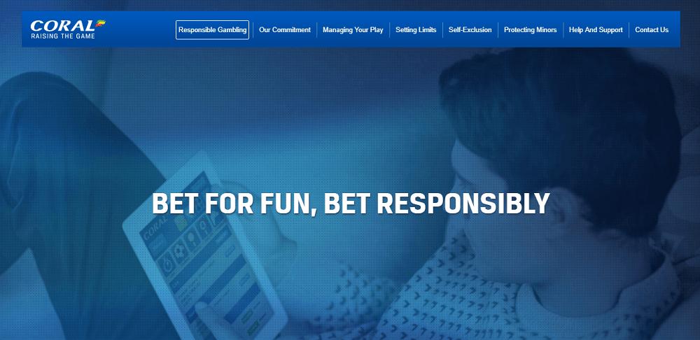 Coral responsible gambling