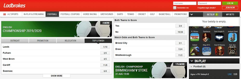 Ladbrokes Championship betting