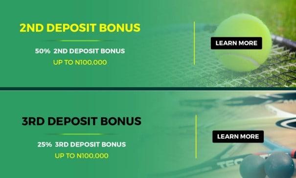 LionsBet 2nd and 3rd deposit bonus