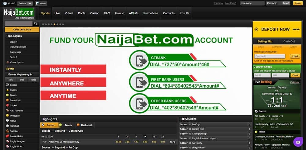 Naijabet design & usability- NaijaBet Sports Betting