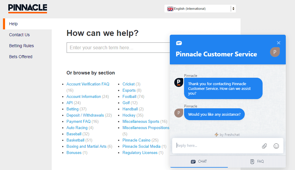 Pinnacle customer support