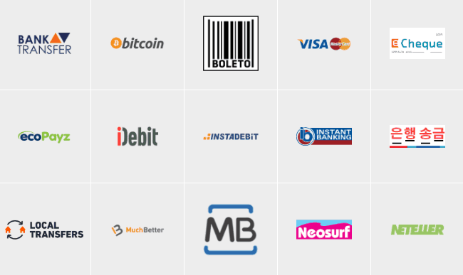 Pinnacle payment methods
