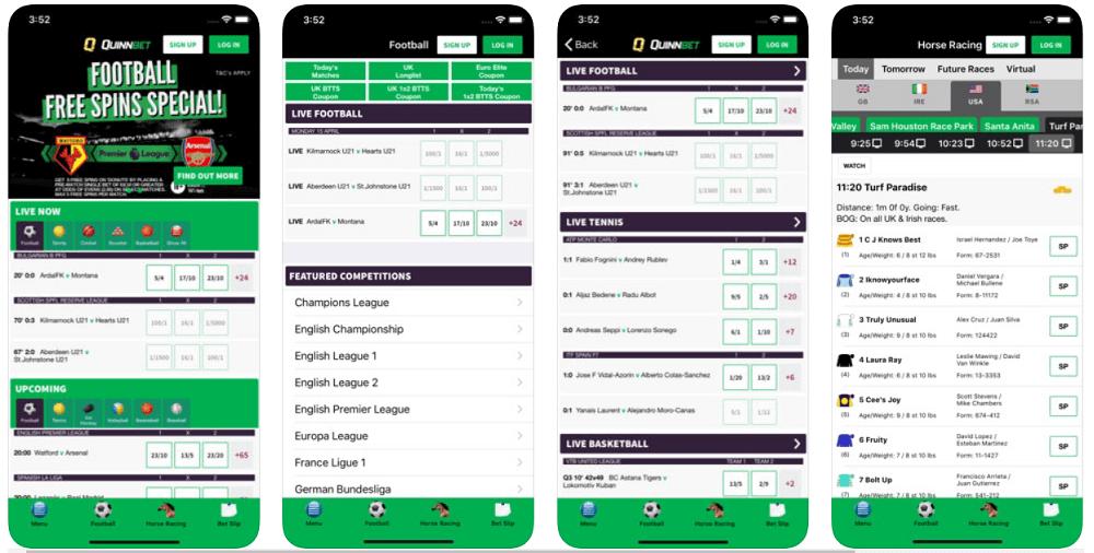 QuinnBet mobile app