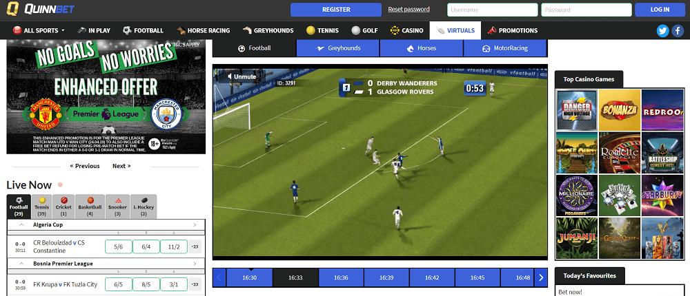 QuinnBet virtual sports