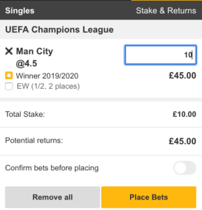 Champions League Betting Guide