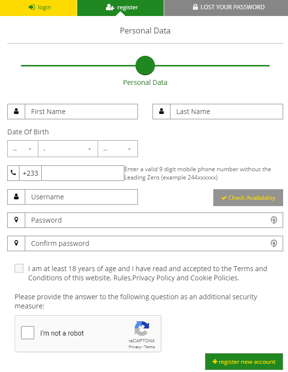 registering a soccabet account