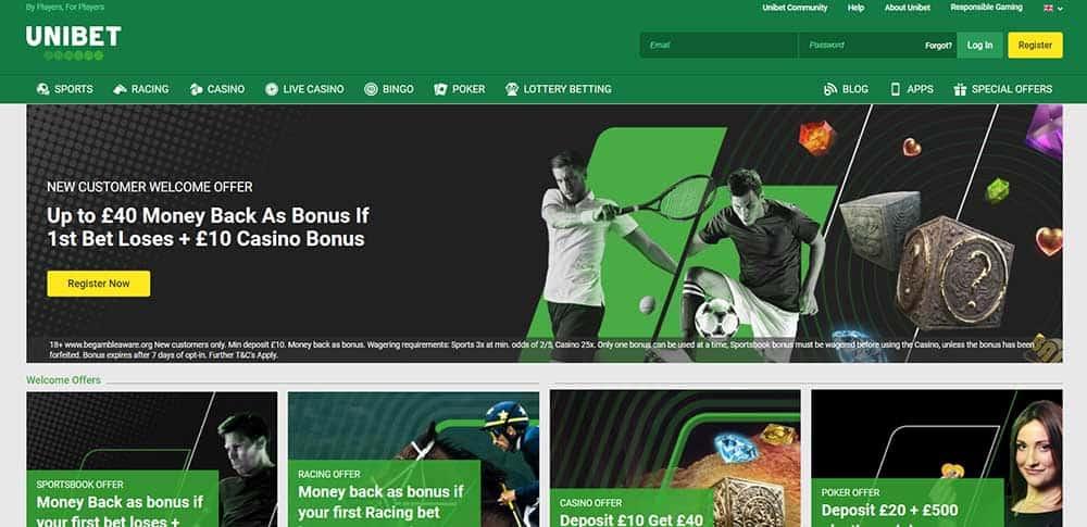 Unibet Homepage - Unibet Sport Betting Review