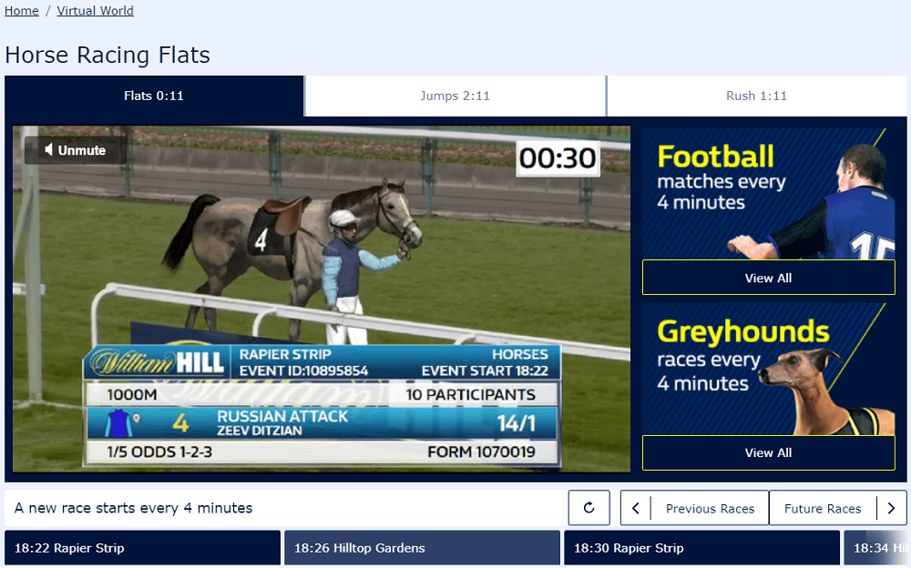 William Hill virtuals