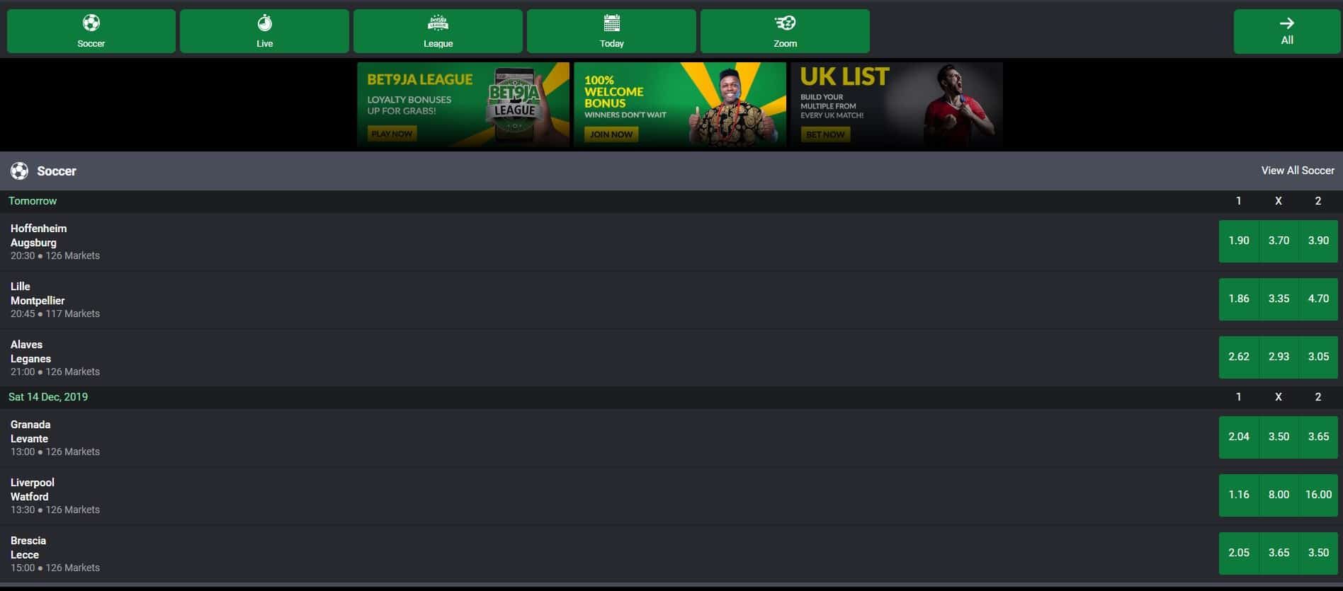 Mobile App - Bet9ja Sports Betting Review