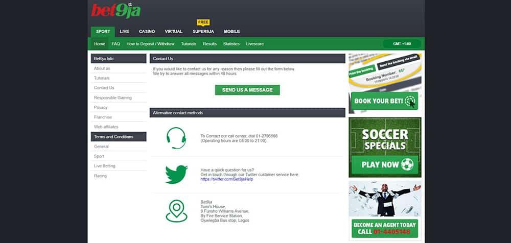 Bet9ja Customer Service