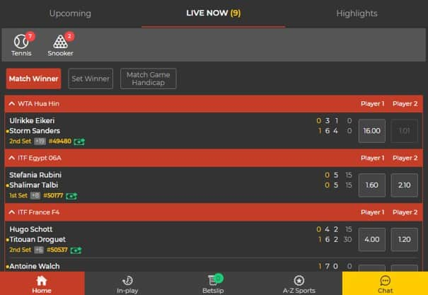 betlion in-play markets- BetLion Sports Betting Review