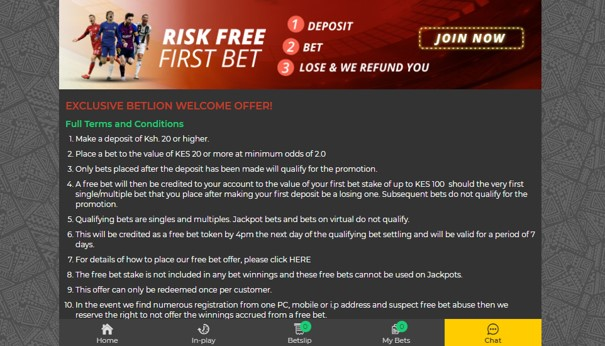 betlion risk free bet- BetLion Sports Betting Review