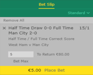 Half Time /Full time Correct score - The best tips for the best betters