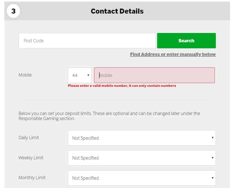 Betway Review contact details registration process