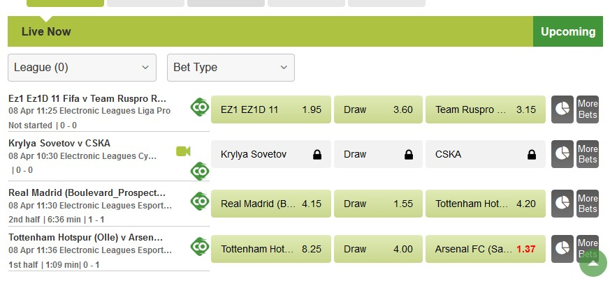 Betway review live betting