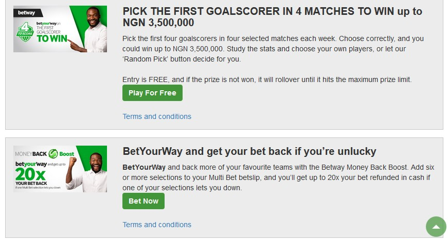 Betway review promotional offer
