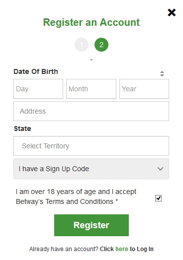 betway registration 2