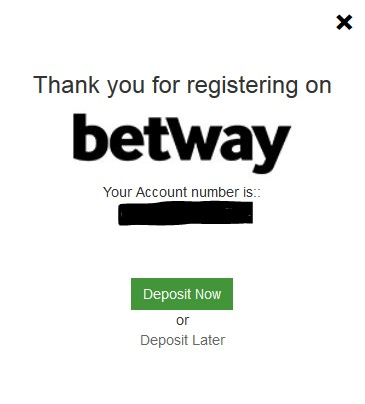 Betway review registration 3