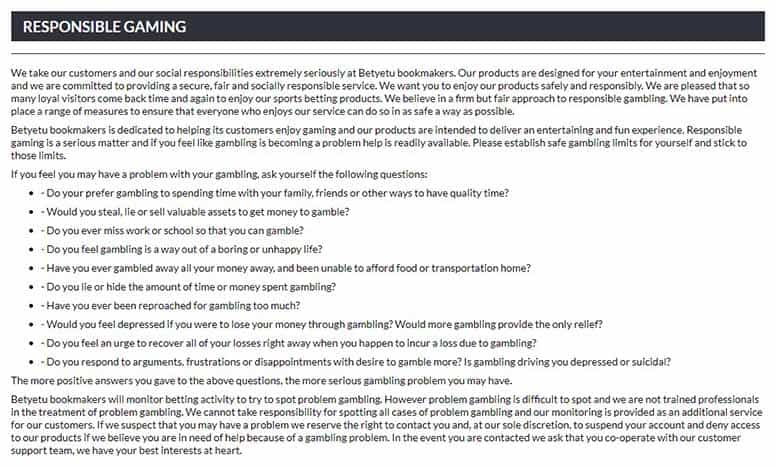 betyetu safety and security - BetYetu Sports Betting Review