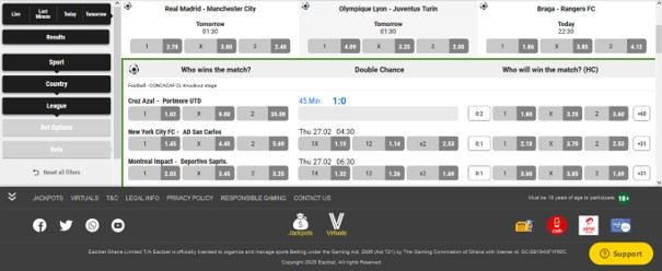 eazibet pre-match betting - EaziBet Sports Betting Review