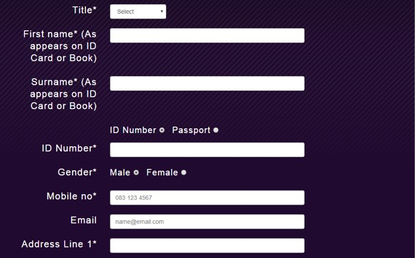 hollywoodbets sign up form first part