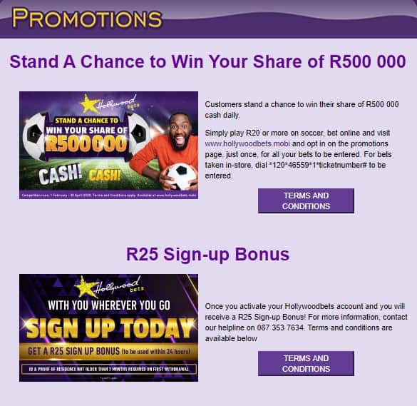 hollywoodbets sportsbook promotional offers - Hollywoodbets Sports Betting Review