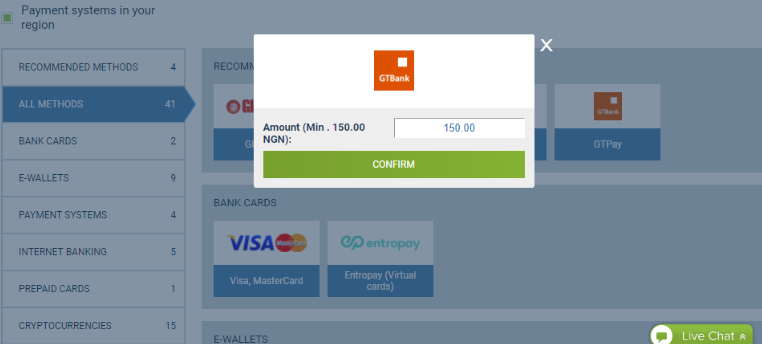 payments pop up window on Interswitch for GTBank