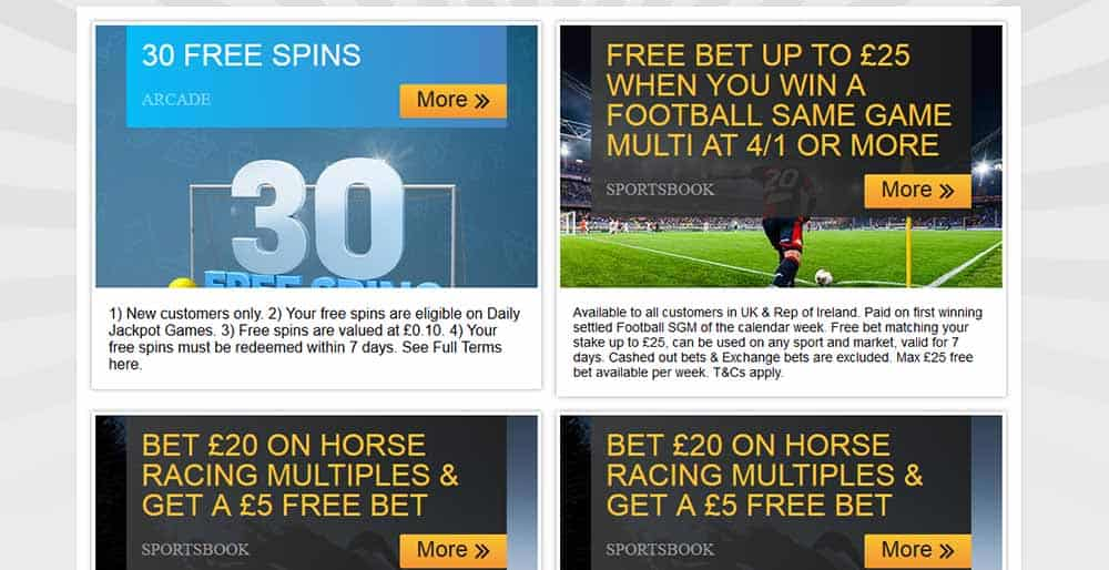 Promo Offers Betfair Sport Review