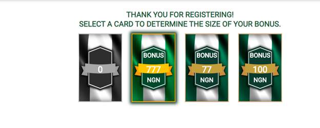 Wazobet Registration Gift Bonus Cards