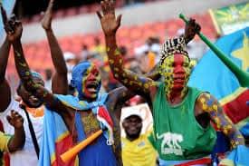 Football Fans Celebrating CAF Tournament
