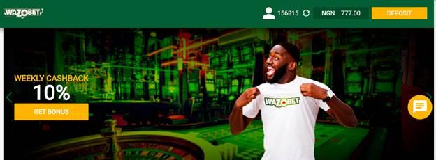 Wazobet Weekly Cashback Bonus