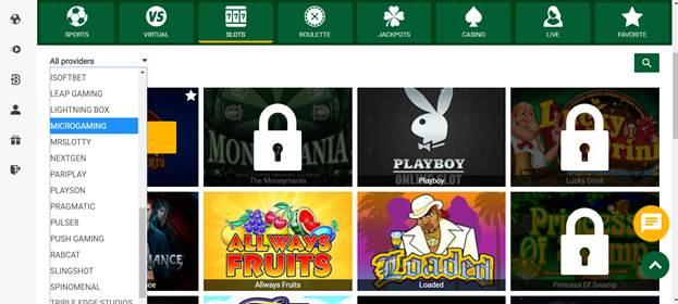 Wazobet Casino Slots & Games