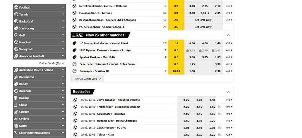 interwetten pre-match betting