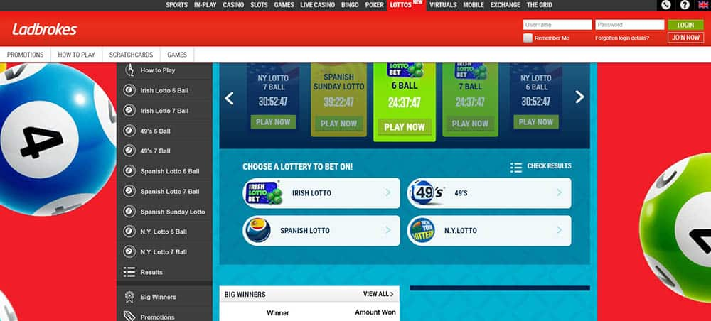 Ladbrokes Homepage Lottery lotto betting