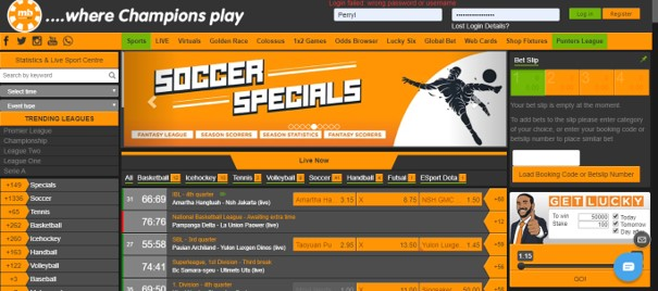 merrybet soccer specials homepage