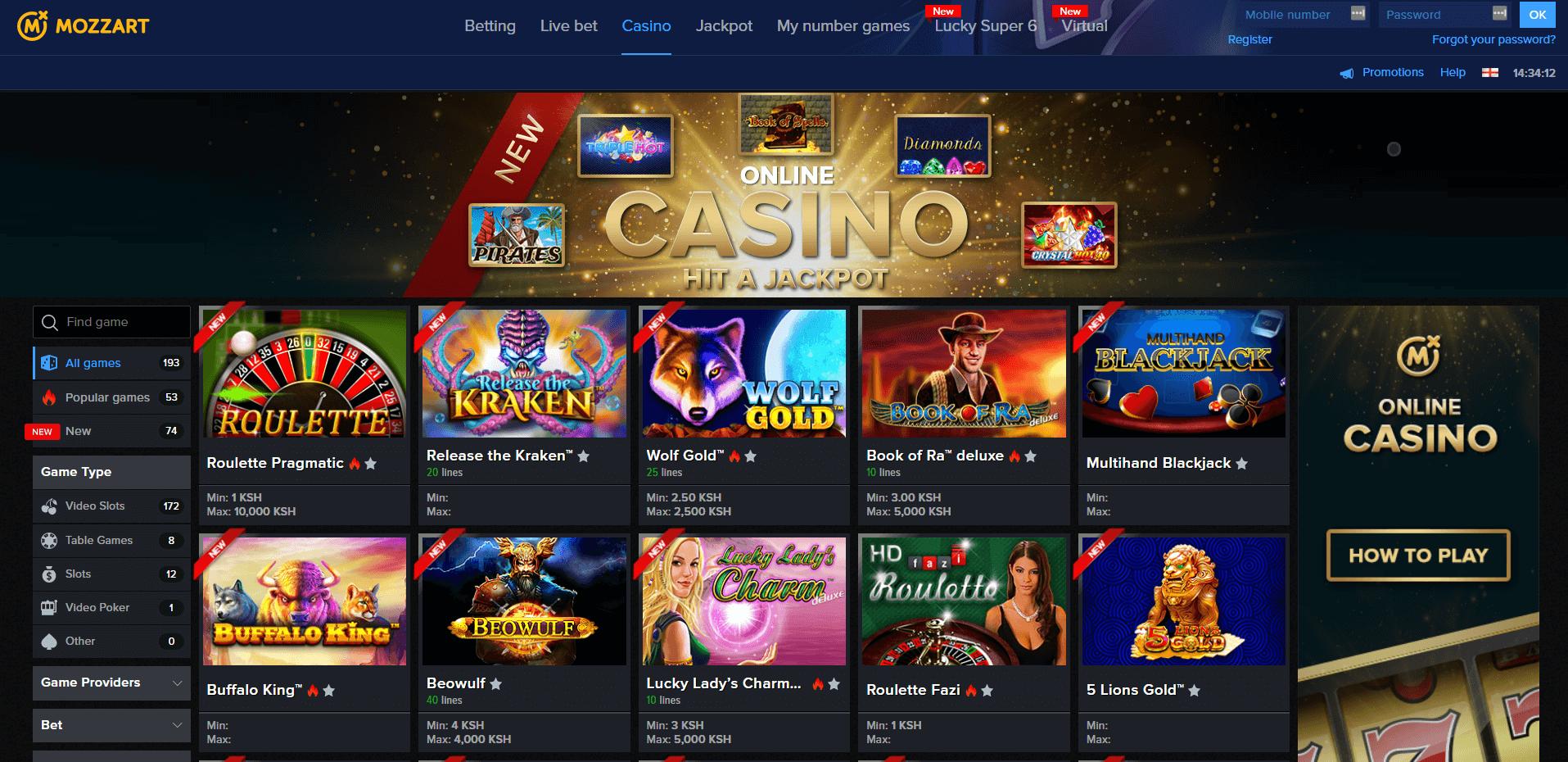 mozzartbet casino homepage