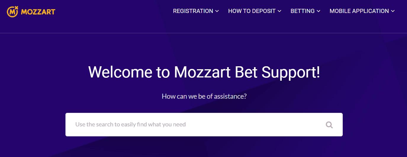 mozzartbet help section
