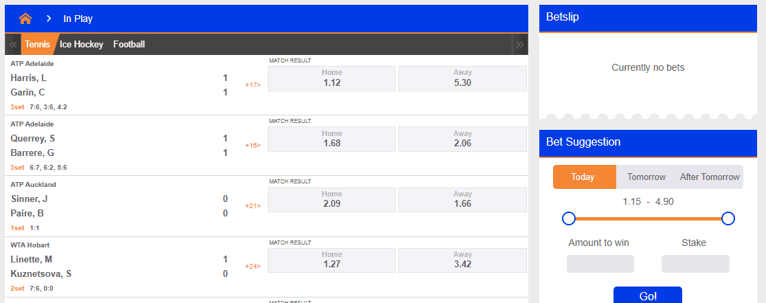 NairaBet In-Play Live betting offer