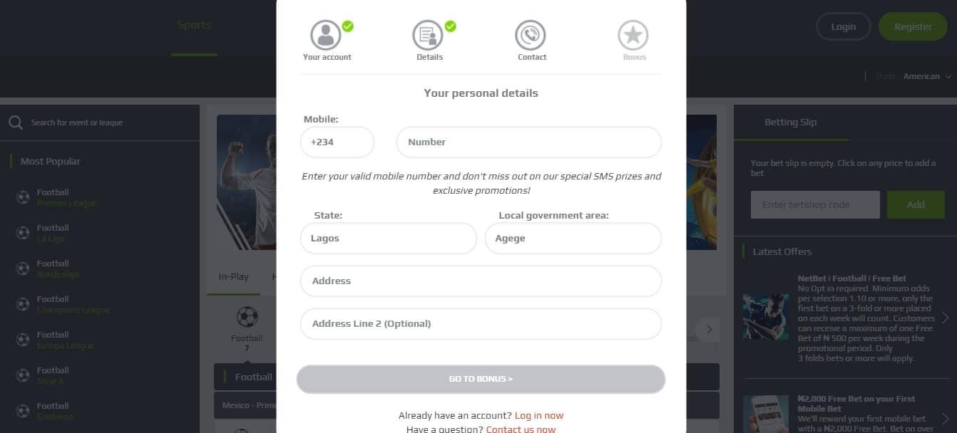 netbet registration process3 - NetBet Review