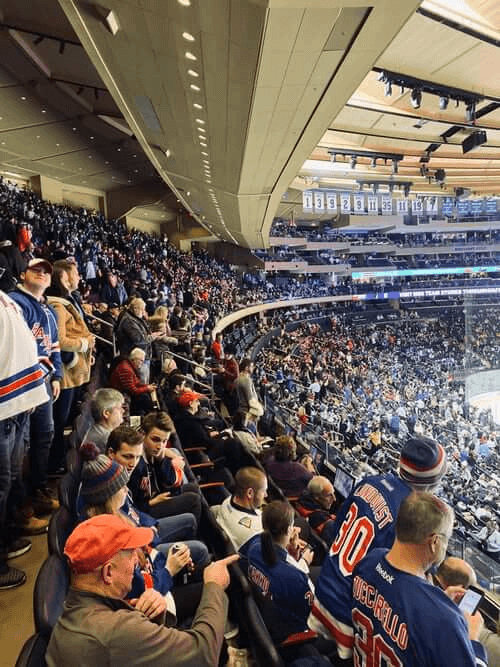 nhl spectators during match
