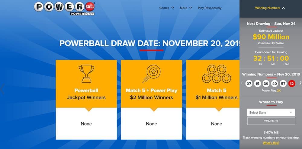 Powerball Draws and Winners