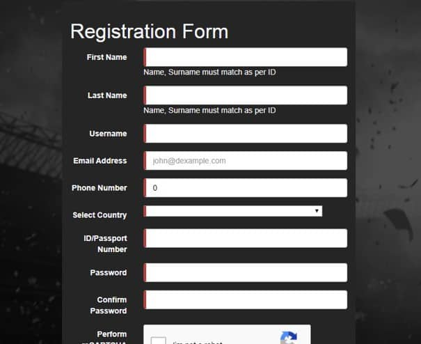 supabets registration form