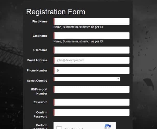 supabets registration form