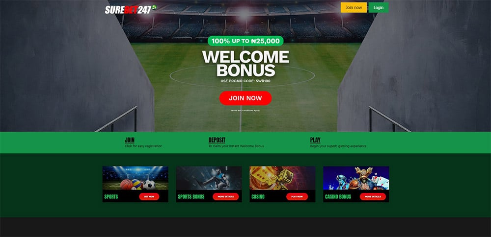 Surebet247 Homepage Nigeria Betting