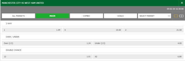 Surebet247 football betting odds