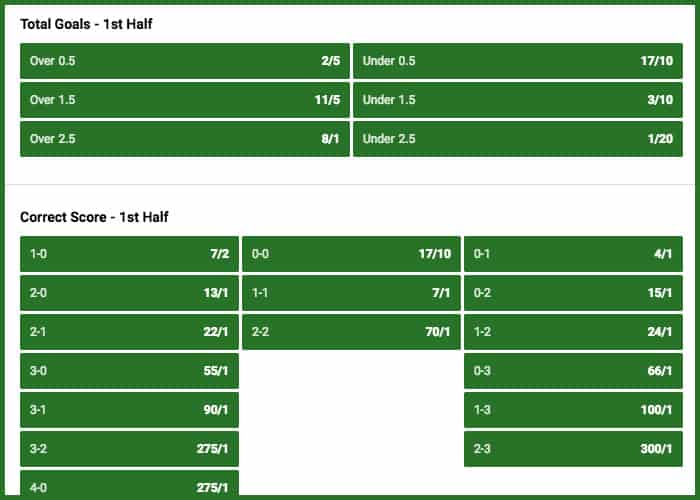 Half time betting ladbrokes sports betting bet 10 get 30 arc