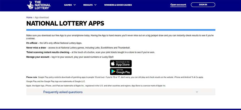 The National Lottery Apps